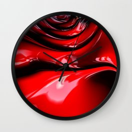 Cherry Syrup on Ice Cream Wall Clock