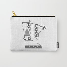 Snow MN (white) Carry-All Pouch
