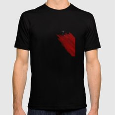 quote: find A beautiful place and get lost Black MEDIUM Mens Fitted Tee
