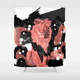Lion Coral Shower Curtain