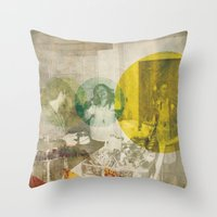 bread Throw Pillows featuring Bread. by Sarah Duet