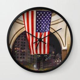 Flag Boston Wall Clock
