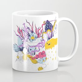 Mermaid on the phone Coffee Mug