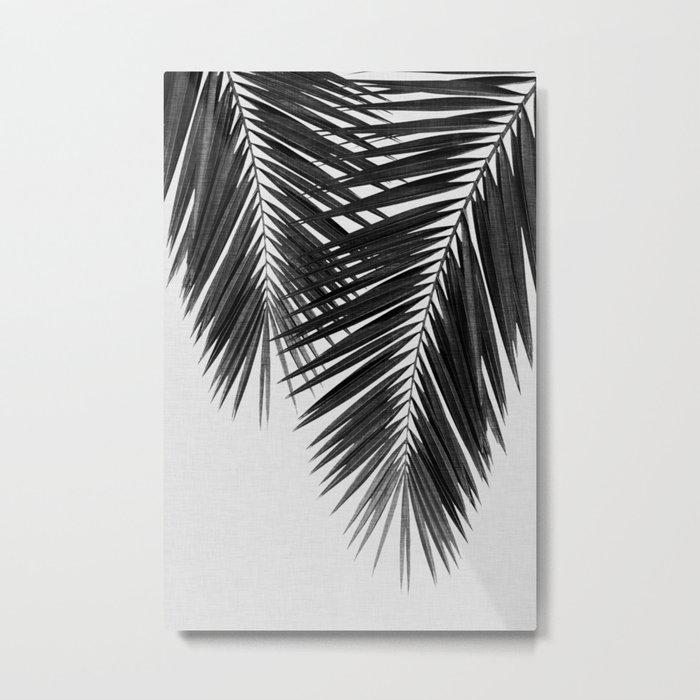 Palm Leaf Black & White II Metal Print