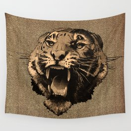 Vintage Tiger Wall Tapestry