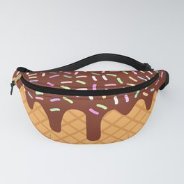 waffles with flowing chocolate sauce and sprinkles Fanny Pack