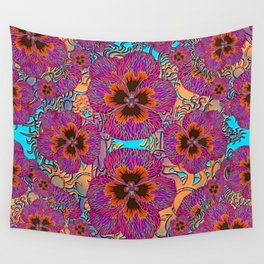 The Lost Pansy Flower Forest Wall Tapestry
