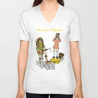 moonrise kingdom V-neck T-shirts featuring Moonrise Kingdom by Vincent Galea
