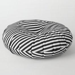 Hypnotic Illusion - Black & White Floor Pillow