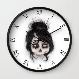 The inability to perceive with eyes notebook II Wall Clock