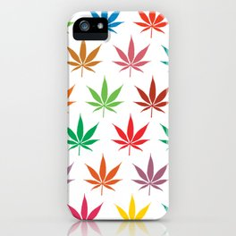 Marihuana Colorful Pattern iPhone Case