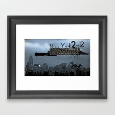 New York 2012 Framed Art Print