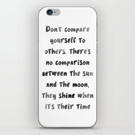 Let the sun & moon inspire you iPhone Skin