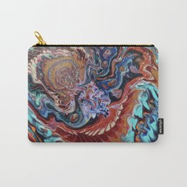 Phoenix Rising Paint Pour Carry-All Pouch