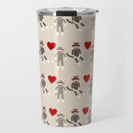 Sock Monkey Love Travel Mug