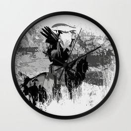 The Offering - Indian Brave with Salmon Wall Clock