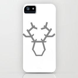 Digital washi tape deer head modern iPhone Case