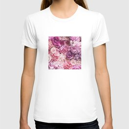 Big Summer Roses In All Shades Of Pink T-shirt