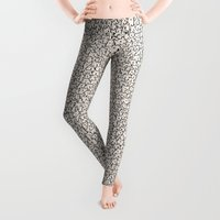 design Leggings featuring A Lot of Cats by Kitten Rain