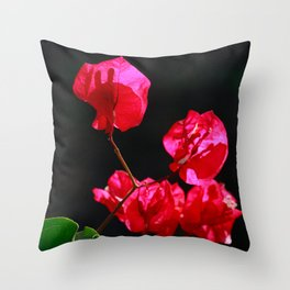 Pink bougainvilleas Throw Pillow