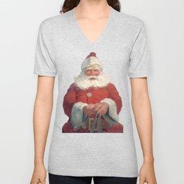 Classic Santa Claus Unisex V-Neck