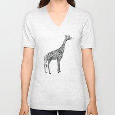 Designer Giraffe Unisex V-Neck