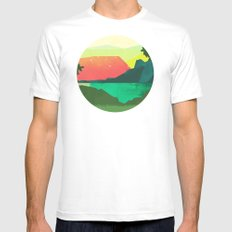 Circlescape White LARGE Mens Fitted Tee