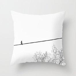 Bird on wire Throw Pillow
