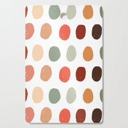 Warm Autumn, minimal retro Hand drawn pastel dots pattern Cutting Board