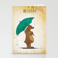 wildlife Stationery Cards featuring Wildlife by AhaC