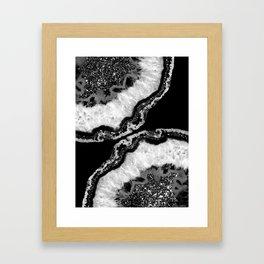 Yin Yang Agate Glitter Glam #4 #gem #decor #art #society6 Framed Art Print