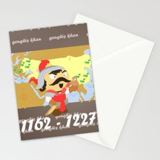 Genghis Khan Stationery Cards