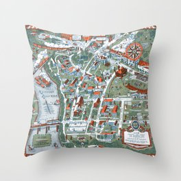 MINNEAPOLIS University map MINNESOTA dorm decor Throw Pillow