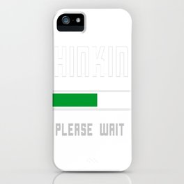 Intellectual Thinker iPhone Case