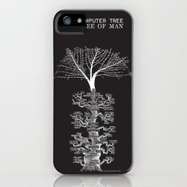 The Computer Tree Pedigree of Man iPhone Case