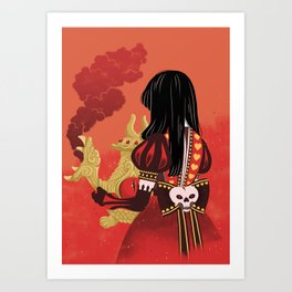 Alice, what have you done? Art Print
