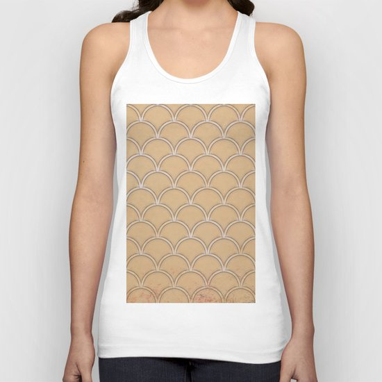 Abstract large scallops in iced coffee with texture Unisex Tank Top