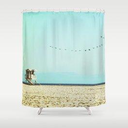 Pelican Paradise Shower Curtain