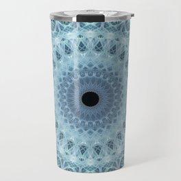 Mandala in cold winter tones Travel Mug