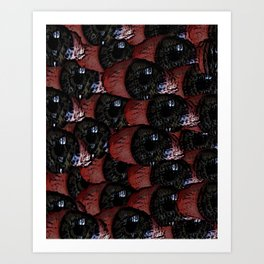 Bloodshot Tears Art Print