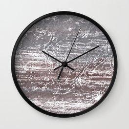 Gray nebulous wash drawing Wall Clock