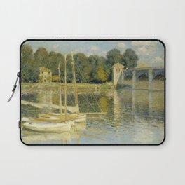 """Claude Monet """"The Argenteuil Bridge"""" Laptop Sleeve"""