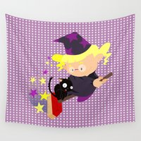 witch Wall Tapestries featuring witch by Alapapaju