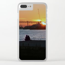 Daybreak on the river Clear iPhone Case