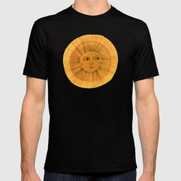 Sun Drawing Gold and Blue T-shirt