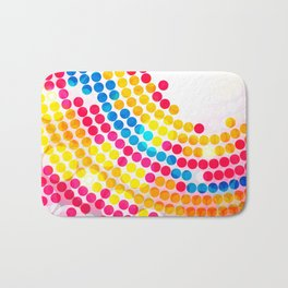 Colorful color Circle Dots Pattern for Girls Bath Mat