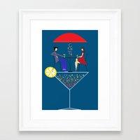 cocktail Framed Art Prints featuring Cocktail by Aleksandra Mikolajczak