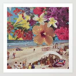 Beach Carnival Art Print