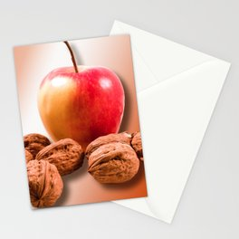 Apple and Nuts Stationery Cards