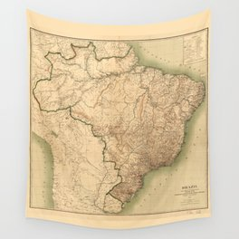 Map of Brazil (1905) Wall Tapestry